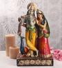 Sanskruti Multicolour Polyresin Radha & Krishna Standing Statue