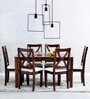 Santa Fe Six Seater Dining Set in Provincial Teak Finish by Woodsworth