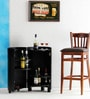 Hambledon Bar Cabinet in Espresso Walnut Finish by Amberville