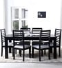 Winona Six Seater Dining Sets in Espresso Walnut Finish by Woodsworth