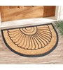Beige & Black Coir 24 x 16 Inch Panama Outdoor Heavy Duty Mat by Saral Home