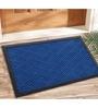 Saral Home Blue Coir 24 x 16 Inch Outdoor Decorative Heavy Duty Mat