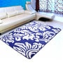 Blue Microfiber 72 x 48 Inch Unique Design Tufted Super Soft Heavy Duty Floor Area Rug by Saral Home