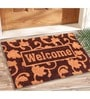 Brown Coir 24 x 16 Inch Outdoor Heavy Duty Mat by Saral Home