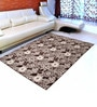 Saral Home Brown Cotton 72 x 48 Inch Multi Purpose Heavy Quality Jacquard Area Rug