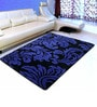 Saral Home Navy Blue Microfiber 72 x 48 Inch Unique Design Tufted Super Soft Heavy Duty Floor Area Rug
