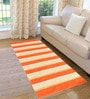 Saral Home Orange Cotton 72 x 28 Inch Premium Quality Multi Purpose Rug