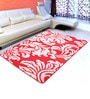Red Microfiber 72 x 48 Inch Unique Design Tufted Super Soft Heavy Duty Floor Area Rug by Saral Home