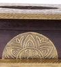 Multicolour Solid Wood Brass Fitted Vintage Jodhpuri Tissue Box by Satyam International