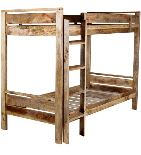 Buy Schroth Solid Wood Bunk Bed In Natural Finish By Woodsworth