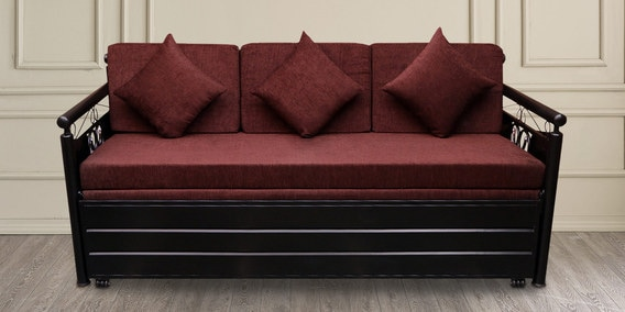 Awesome Scented Metal Single Size Sofa Cum Bed With Hydraulic Storage In Matte Black By Furnline Squirreltailoven Fun Painted Chair Ideas Images Squirreltailovenorg