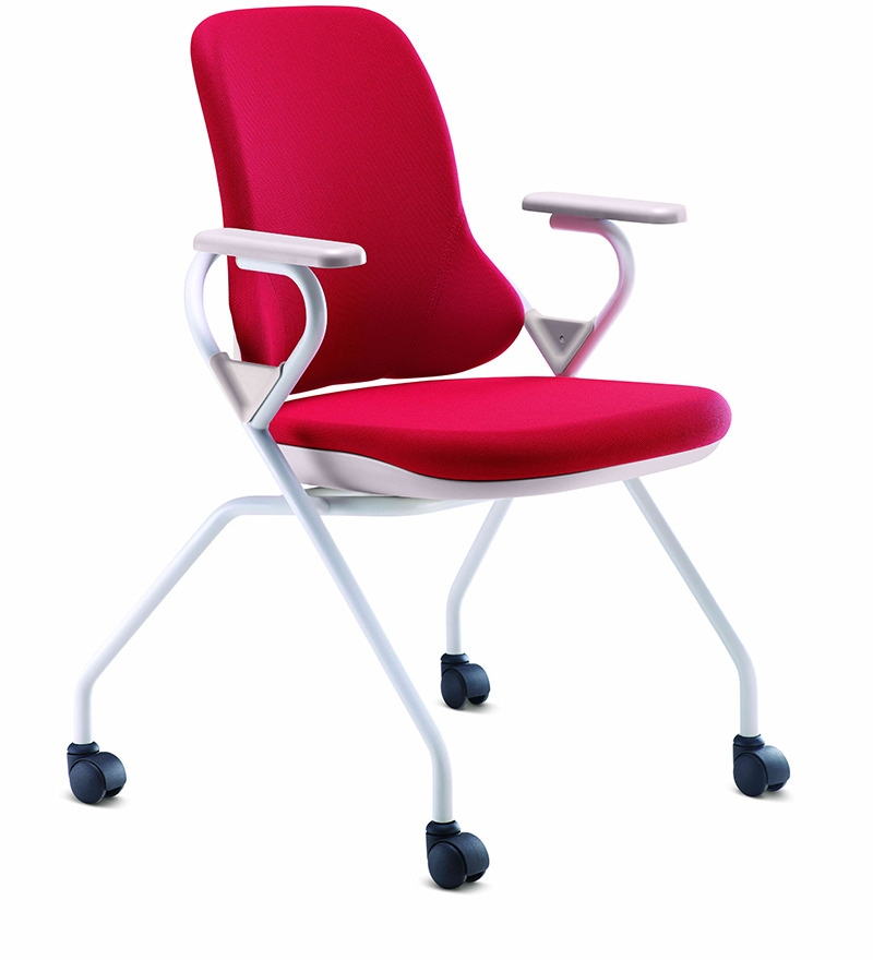 Scintilla Casto Chair With Arms In Red Colour By Godrej