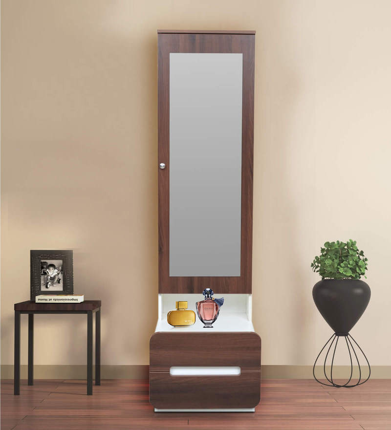 Buy Scion Dressing Table With Hidden Mirror Storage In