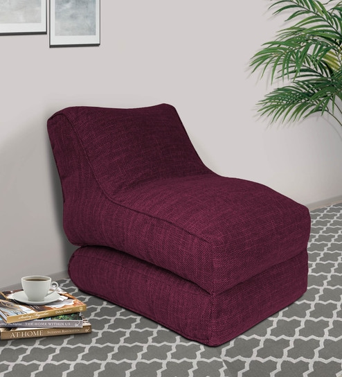 Brilliant Sdney Convertible Beanbag In Maroon Colour By Fluco Ibusinesslaw Wood Chair Design Ideas Ibusinesslaworg