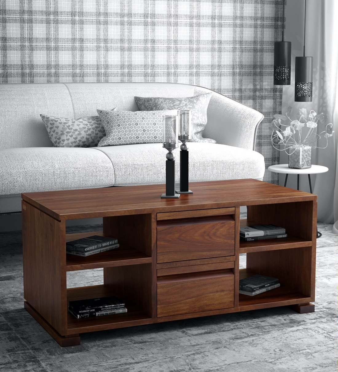 Buy Segur Solid Wood Coffee Table in Provincial Teak ...