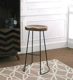Seville Bar Stool in Natural Finish
