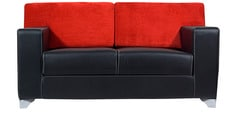 Seto Two Seater Sofa in Red & Black Colour