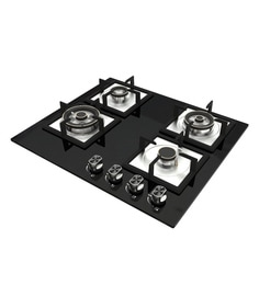 Seavy Starlight 4 Brass Burner Hob With Built In Auto Ignition