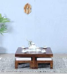 Segur Coffee Table Set In  Provincial Teak Finish