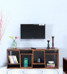 Segur Open Entertainment Unit In Provincial Teak Finish