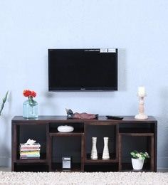 Segur Open Entertainment Unit In Warm Chestnut Finish
