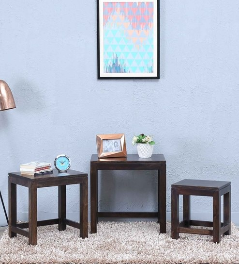 Segur Set Of Tables in Warm Chestnut Finish by Woodsworth