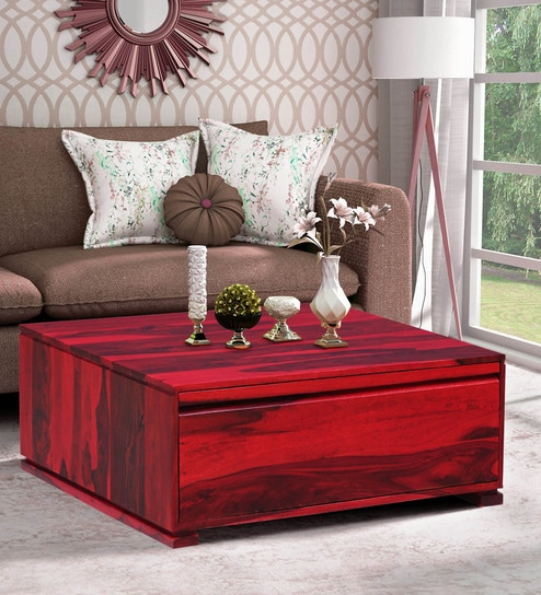Terrific Segur Solid Wood Coffee Table With Storage In Spicy Red Finish By Woodsworth Beatyapartments Chair Design Images Beatyapartmentscom