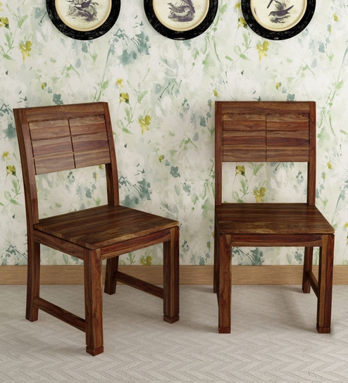 Segur Solid Wood Dining Chair Set Of 2 In Provincial Teak Finish By Woodsworth