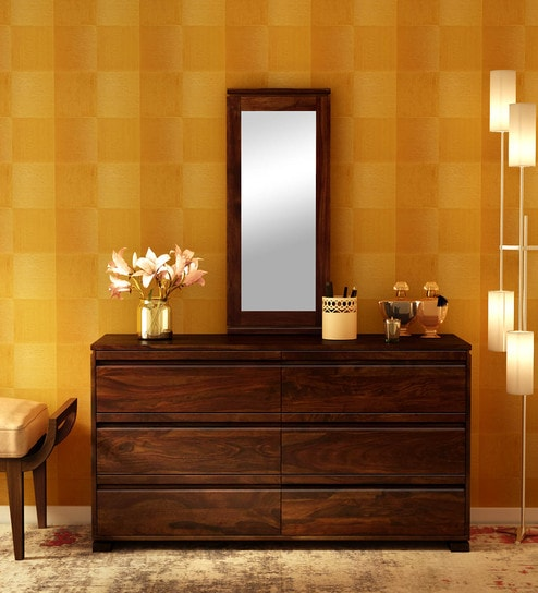 6c015f16b Segur Solid Wood Dressing Table with Mirror in Provincial Teak Finish by  Woodsworth