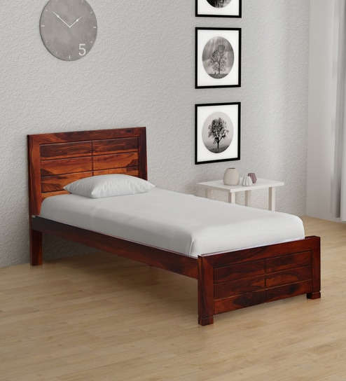 4773edcff764 Buy Segur Solid Wood Single Bed in Honey Oak Finish by Woodsworth ...