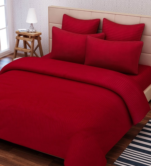 Absolute Solid 210TC Cotton King Size Bed Sheet With 2 Pillow Covers By SEJ  By Nisha