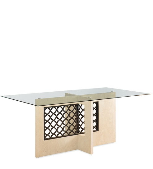 Selene Six Seater Dining Table In Ash White Colour By Home Online Tables Pepperfry