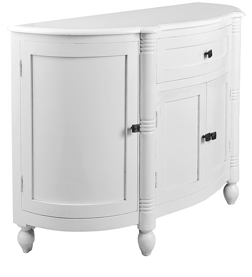 Semi Circle Multi Cabinet In White Colour By The Yellow Door Store
