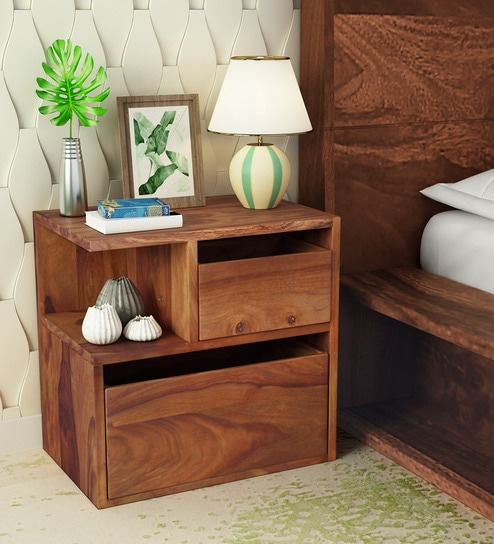 Sencillo Solid Wood Lhs Bedside Chest In Provincial Teak Finish By Woodsworth