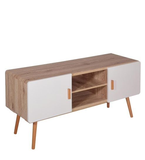 Senet Entertainment Unit In Natural Wood Finish By Evok