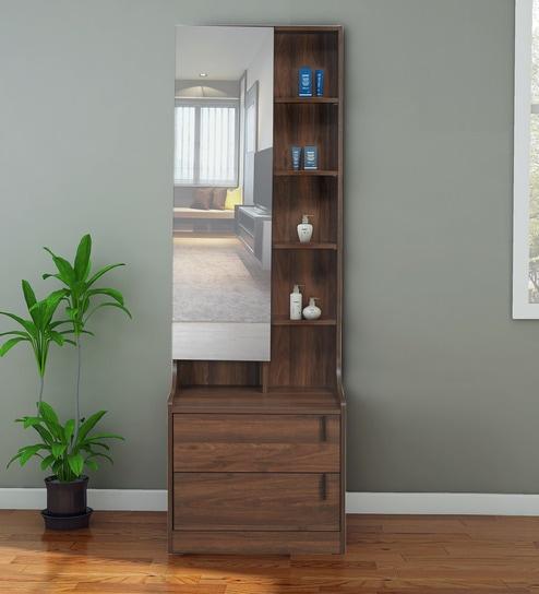 Hidden Mirror Storage In Wenge Finish