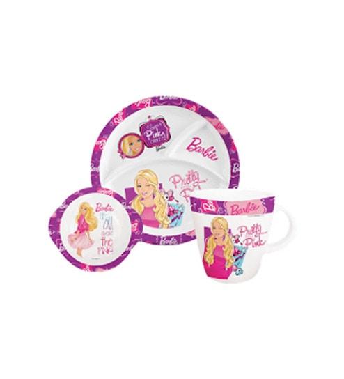 3 Pc Kids Dinner Set - Barbie Pink by Servewell  sc 1 st  Pepperfry & Buy Servewell 3 Pc Kids Dinner Set - Barbie Pink Online - Tableware ...