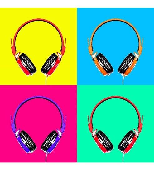 Buy Seven Rays Headphones Music Pop Art Poster Online Music
