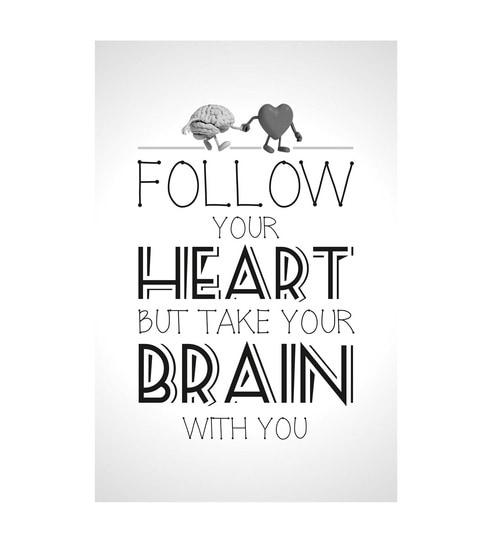 Paper 12 x 1 x 18 Inch Follow Your Heart Unframed Poster by Seven Rays