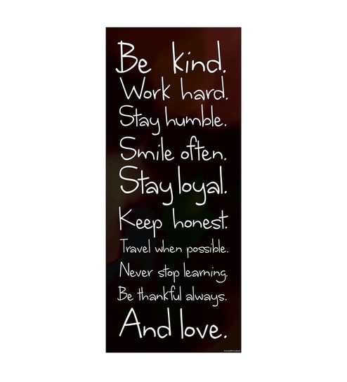 Paper 12 x 1 x 26 Inch Be Kind Unframed Poster by Seven Rays