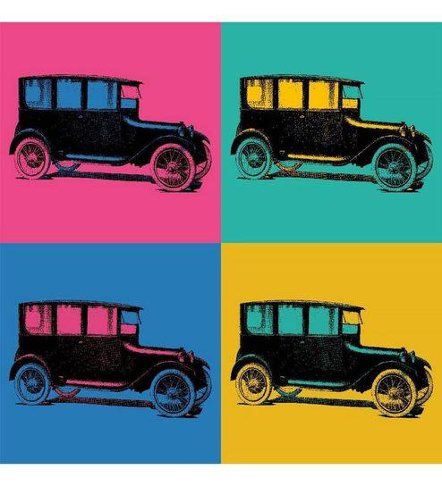 Seven Rays Vintage Car Pop Art Poster