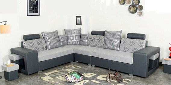 Pleasant Sean Adjustable Seven Seater Corner Sectional Sofa In Grey By Athena Crafts Gmtry Best Dining Table And Chair Ideas Images Gmtryco