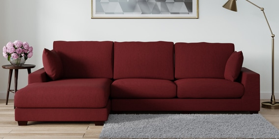 Brilliant Seren Rhs Sectional Sofa In Garnet Red Colour By Furnitech Gmtry Best Dining Table And Chair Ideas Images Gmtryco