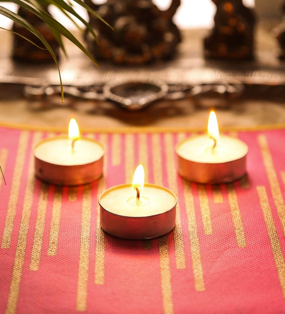 Buy White Set of 50 Tea Lights Candles by Hosley Online - Tea Lights Candles  - Lamps & Lighting - Lamps & Lighting - Pepperfry Product