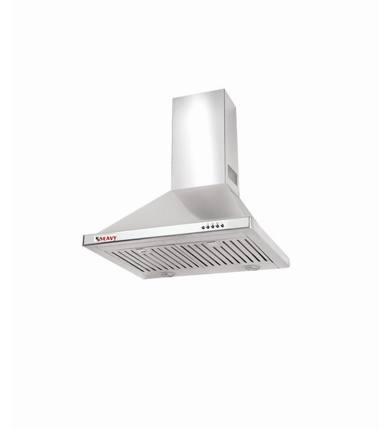 Seavy Energy Plus Dx Ss 60 cm 1100 m3/hr Electric Kitchen Chimney