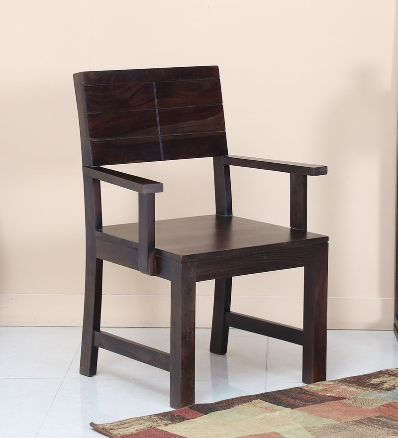 Segur Arm Chair in Warm Chestnut Finish by Woodsworth