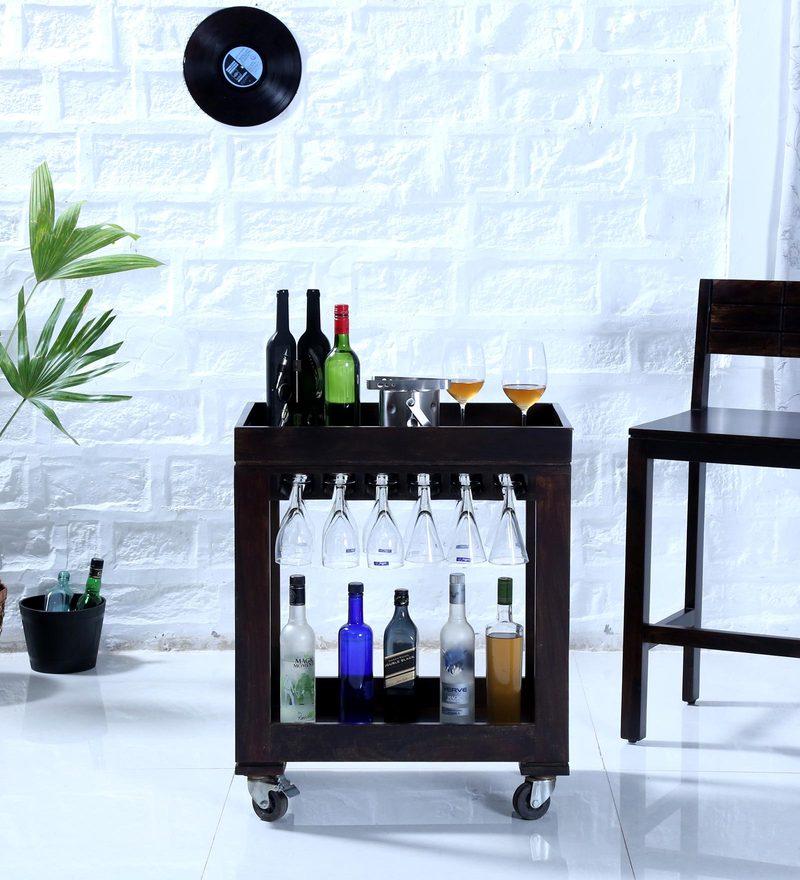 Segur Bar Trolley in Warm Chestnut Finish by Woodsworth