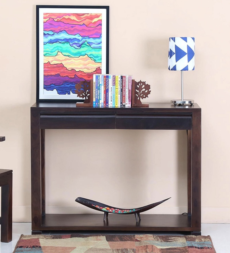 Segur Console Table in Warm Chestnut Finish by Woodsworth