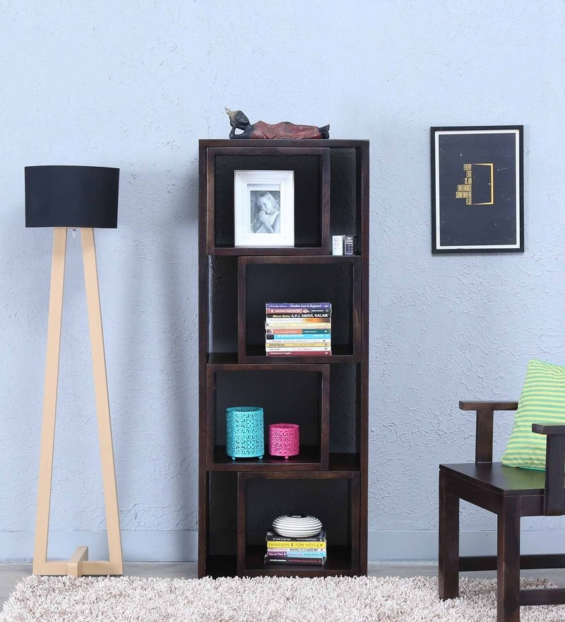 Segur Display Unit in Warm Chestnut Finish by Woodsworth