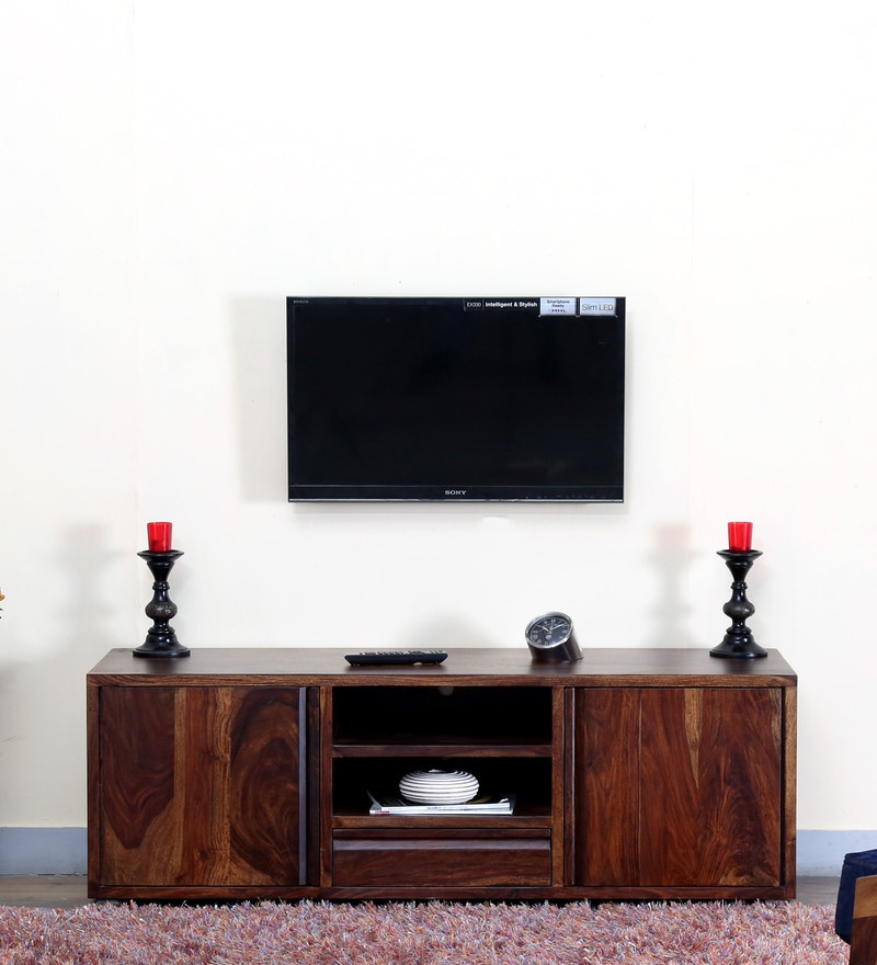 Segur Large Entertainment Unit in Provincial Teak Finish by Woodsworth